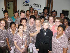 Judy Taylor with Samaritan Staff