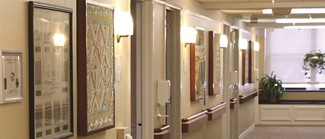 Mount Holly NJ hospice center hallway