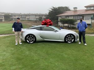 Jim Nesbitt and Peter Henson in front of Lexus