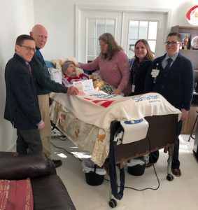 Vietnam Veteran Tom Richards and hospice team