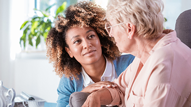 Home Health Worker with Senior Woman