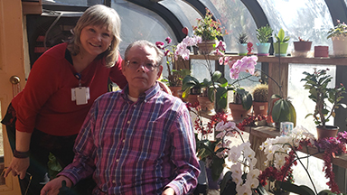 Hospice Patient Steven Edwards with Social Worker