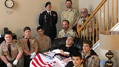 Hospice patient Thomas Zippilli Veterans Ceremony