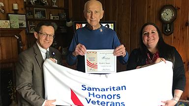 Samaritan patient William Yaeger with Blanket
