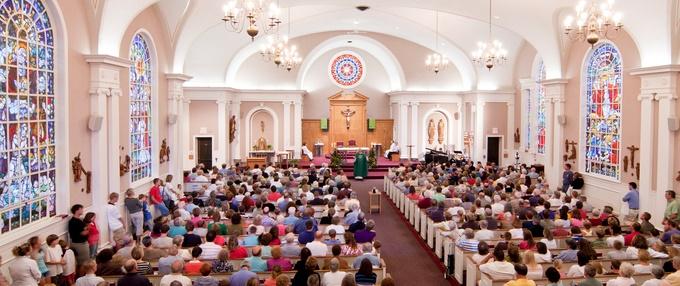 Mass at a Catholic church