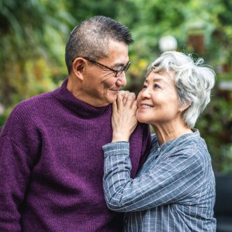devoted senior husband and wife